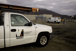 Licensed commercial contractor Varney Truck on a job site